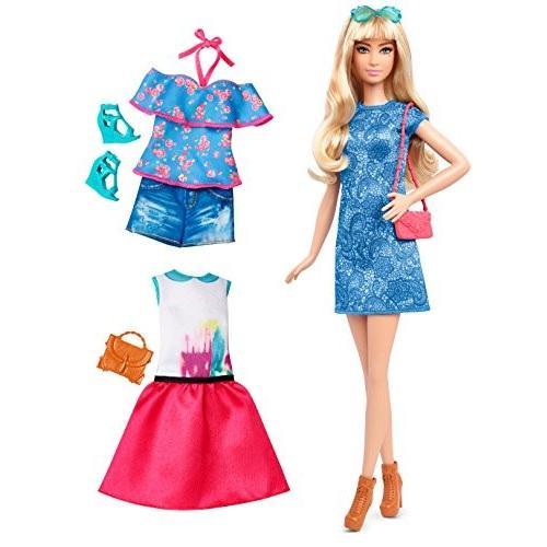 バービーBarbie Fashionistas Doll & Fashions Lacey 青, Tall Blonde