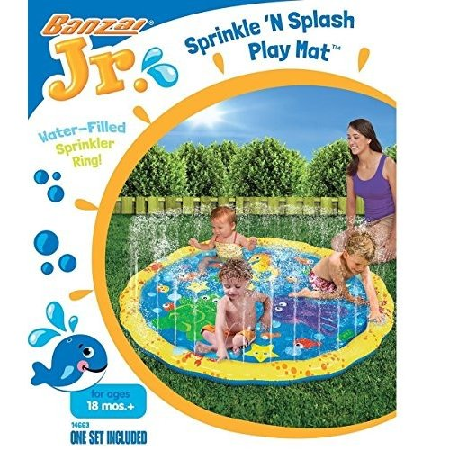 プールBanzai 54in Diameter lrlkJA Sprinkle and Splash Play Mat, 4 Units