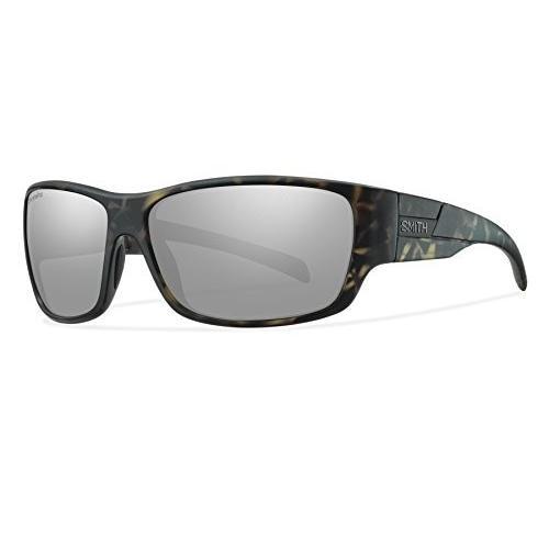 スミスSmith Optics Frontman Chromapop Polarized Sunglasses, Matte Camo, Platinum Mirror
