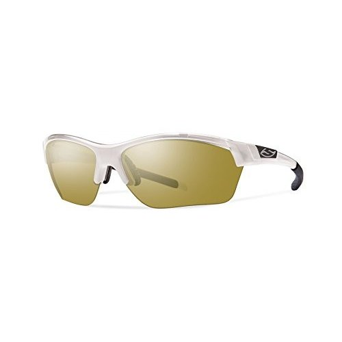 スミスSmith Optics Approach Max Sunglass with Bronze Mirror Carbonic Lenses, Pearl