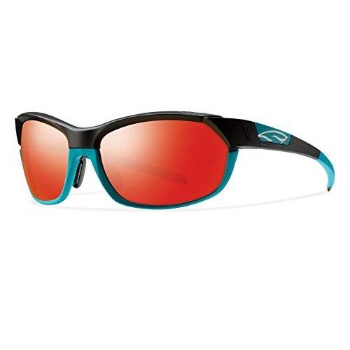 スポーツSmith Optics Pivlock Overdrive Sunglass with 赤 Sol-X, 黒 TurquoiseOne Size