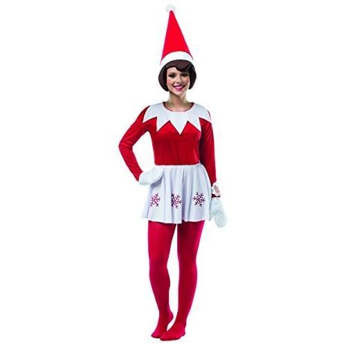コスチュームRasta Imposta Women's Elf On A Shelf Female, 赤/白い, One SizeOne Size