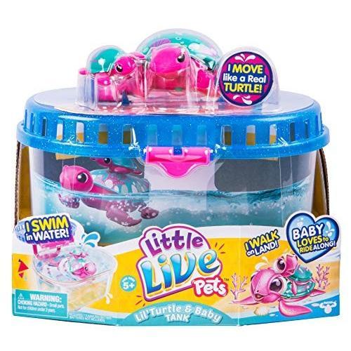リトルライブペッツLittle Live Pets Season 5 Lil' Turtle Tank - Seashore The Reef Turtle and Baby