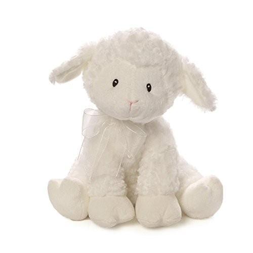 ガンドBaby GUND Lena Lamb Brahms' Lullaby Musical Stuffed Animal Plush, 白い, 10