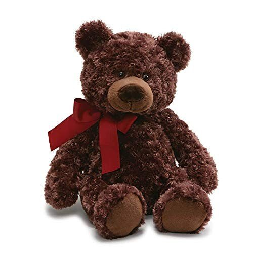 ガンドGUND Valentine's Day Hart Teddy Bear Stuffed Animal, Chocolate 褐色, 18