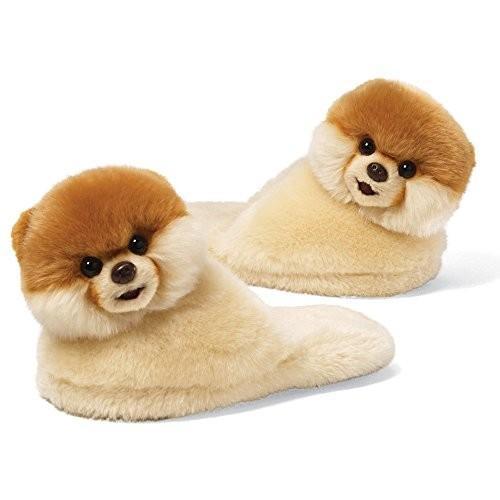 ぬいぐるみGund Boo The World's Cutest Dog Child Sized Slippers 9