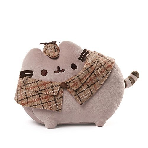 ガンドGUND Pusheen Detective Cat Plush Stuffed Animal, Gray, 12.5
