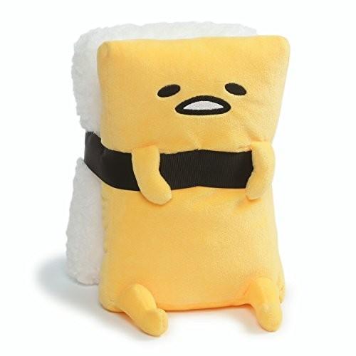 ガンドGUND Sanrio Gudetama The Lazy Egg Tamago Sushi Stuffed Animal Plush, 白い & 黄, 9