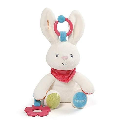 ぬいぐるみGUND Baby Flora The Bunny Plush Activity Toy 8.5