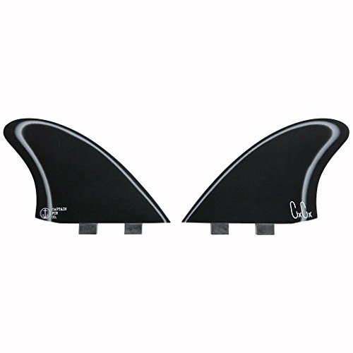 フィンCaptain Fin Co. Chris Christenson Keel Especial Surfboard Fins - 2 Fin Set - Twin Tab - BlaOne Size/Twin Tab