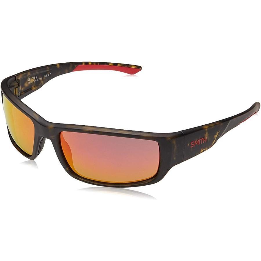 スポーツSmith Survey Polarized Sunglasses Matte Camo/Polarized 赤 Mirror, One Size - Men'sOne Size