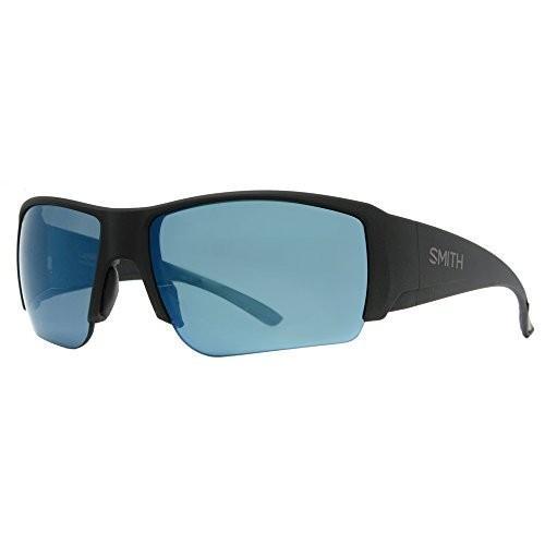 スポーツSmith Captains Choice ChromaPop+ Polarized Sunglasses, Matte 黒, 青 Mirror LensLens-66 Bridge-16 Temple-120