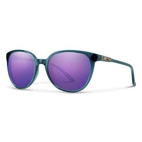スポーツCheetah Carbonic Polarized Sunglasses, Crystal Mediterranean / Violet Mirror, Smith OptiOne Size