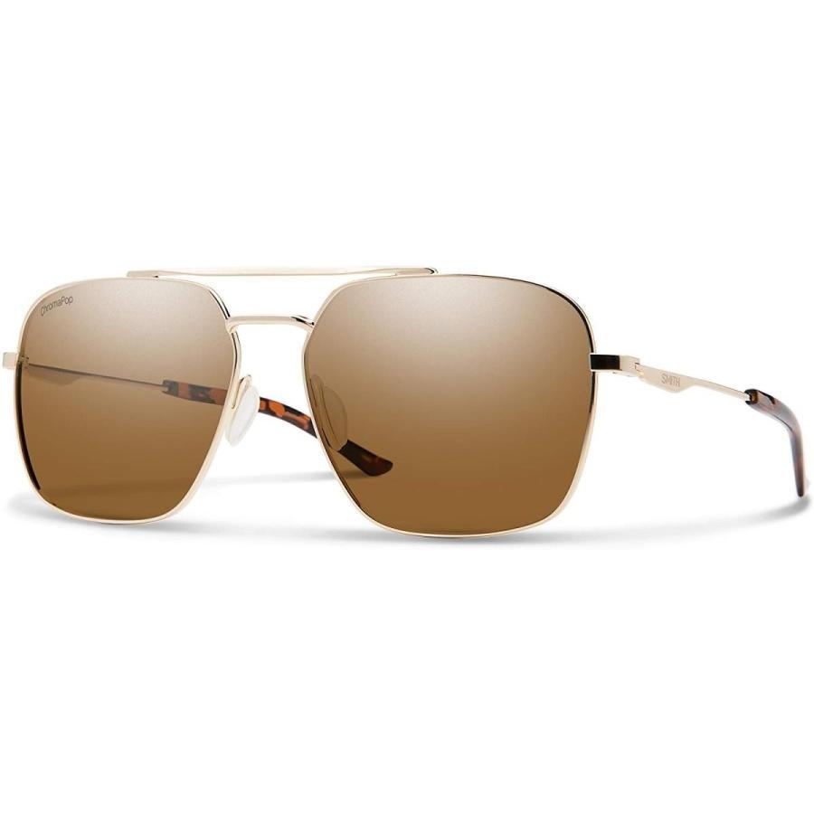 スポーツDouble Down ChromaPop Sunglasses, ゴールド / ChromaPop Polarized 褐色, Smith Optics Double One Size