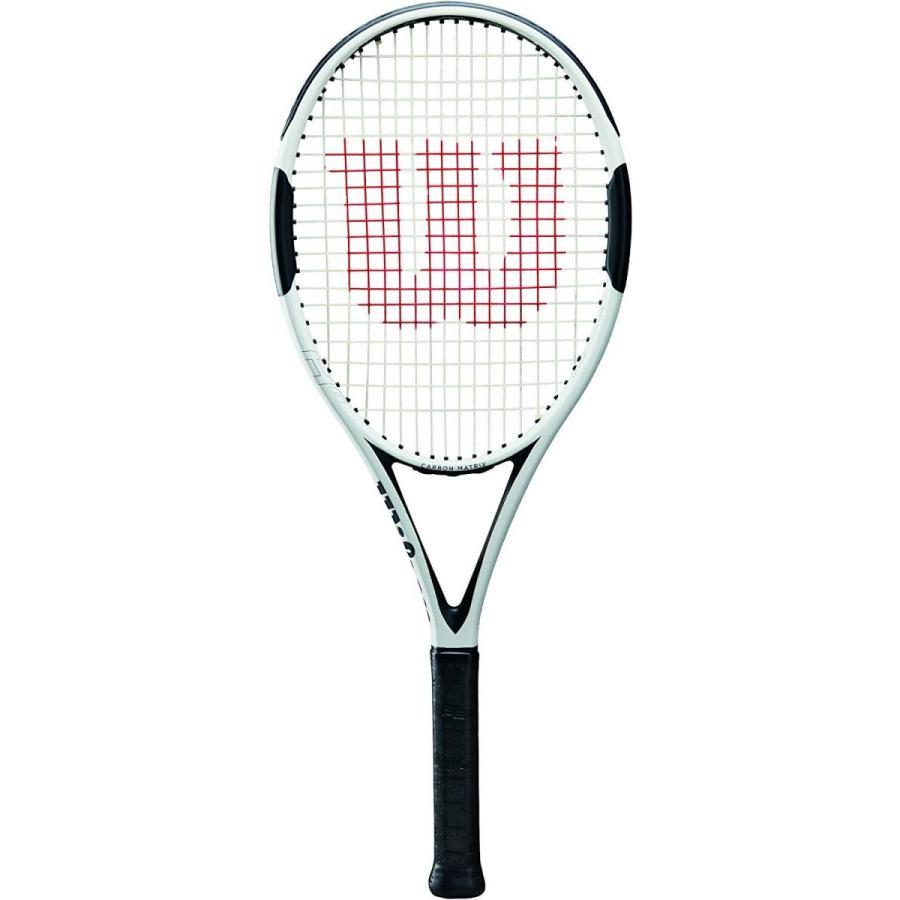 ラケットWilson H6 Tennis Racket, 白い/黒, 4 3/8