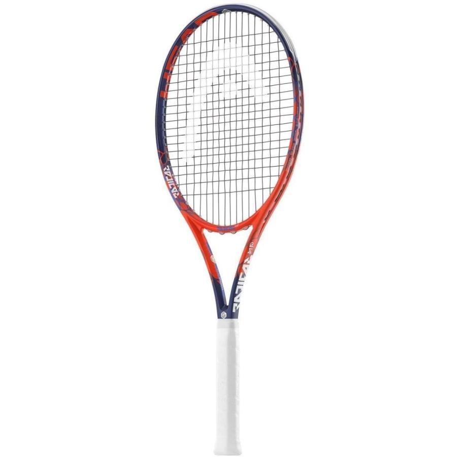 ラケットHead Graphene Touch Radical MP Tennis Racquet (Grip Size 4 1/2 inch) Strung with オレンジ 4-1/2