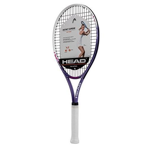 ラケットHEAD Ti. Instinct Supreme Tennis Racket - Pre-Strung Head Light Balance 27 Inch Racquet 4 3/8 In Grip