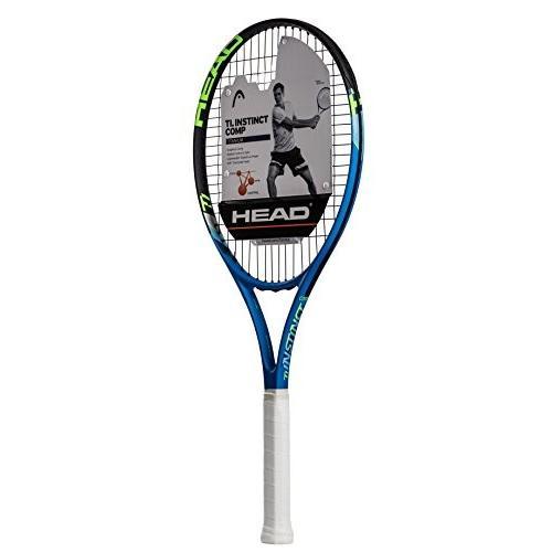 ラケットHEAD Ti. Instinct Comp Tennis Racket - Pre-Strung Head Light Balance 27 Inch Racquet - 44 1/4 In Grip