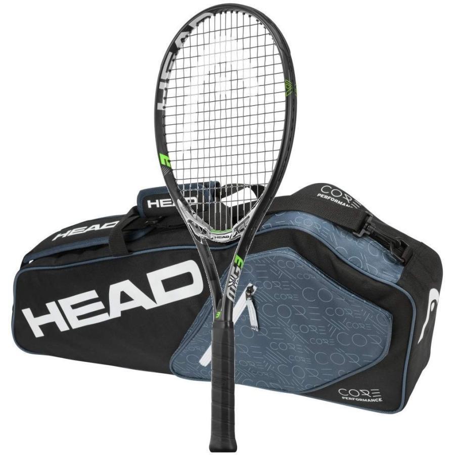 ラケットHead MxG 3 Tennis Racquet - STRUNG with 3 Racquet Bag (4-1/8)4-1/8