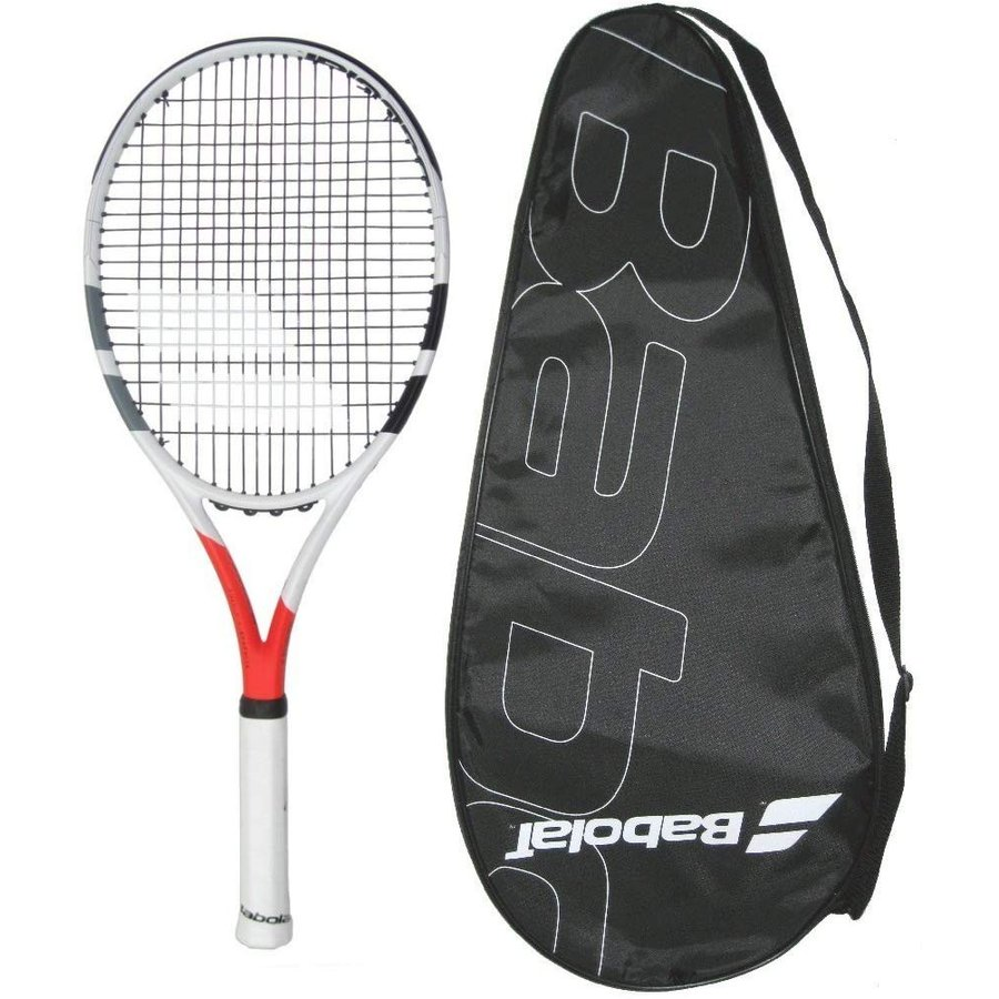 ラケットBabolat 2017 Boost Strike Tennis Racquet - STRUNG with COVER (4-1/8)