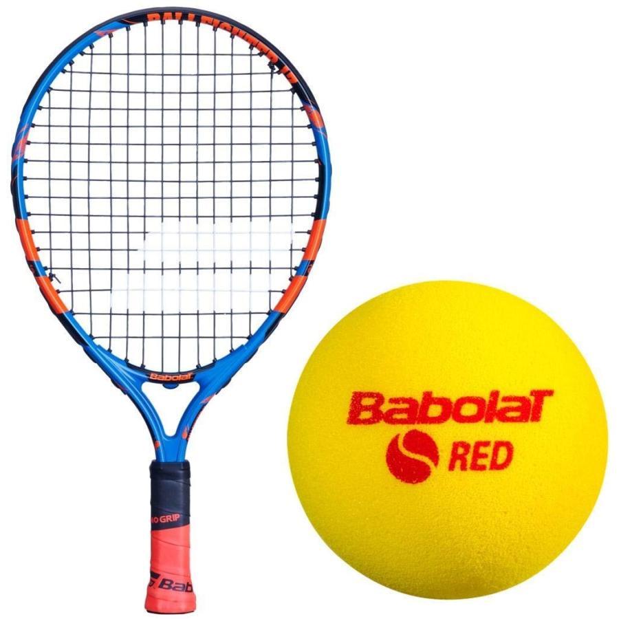 ラケットBabolat Ballfighter 青/オレンジ 17 Inch Child's Tennis Racquet Bundled with 24 赤 Foam