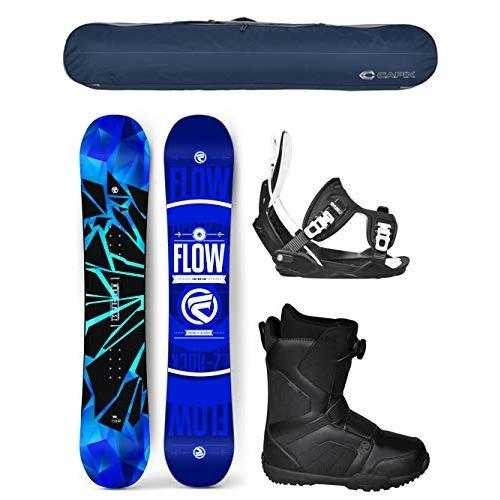 ウィンタースポーツFlow 2019 Burst Men's Complete Complete Complete Snowboard Package Bindings+BOA Boots+Bag -Boot Size 14 de7