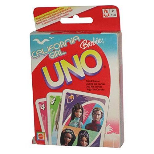英語CALIFORNIA GIRL BARBIE UNO Card Game