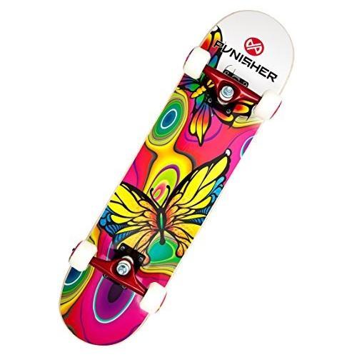 スケボーPunisher Skateboards Butterfly Jive Complete 31-Inch Skateboard with Canadian Maple9009 31-Inch