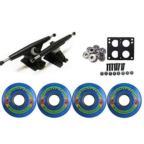 タイヤTGM Skateboards KRYPTONICS Route Truck Wheel Pack 62mm 青 Randal 180 黒