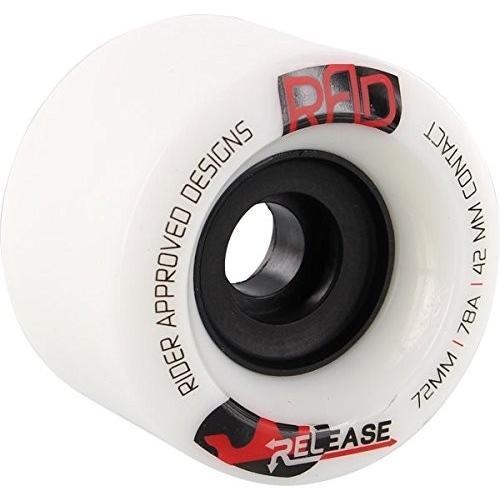 タイヤRad Release 72mm 78a White/Black Skateboard Wheels (Set Of 4)