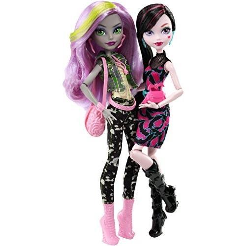 人形Monster High Welcome to Monster High Monstrous Rivals 2-Pk DollsDNY33