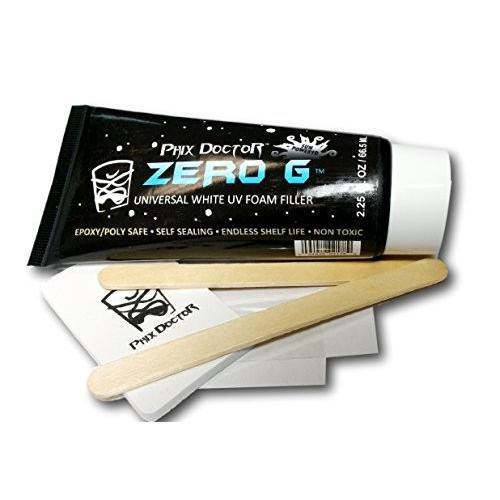 サーフィンPhix Doctor Zero G UV Foam Filler Epoxy/Poly Surfboard Repair Kit