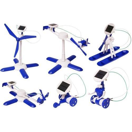 エレンコEdu-Toys 6-in-1 Solar Kit| Build 6 Solar Powe赤 Models | No batteries | Sun Powe赤