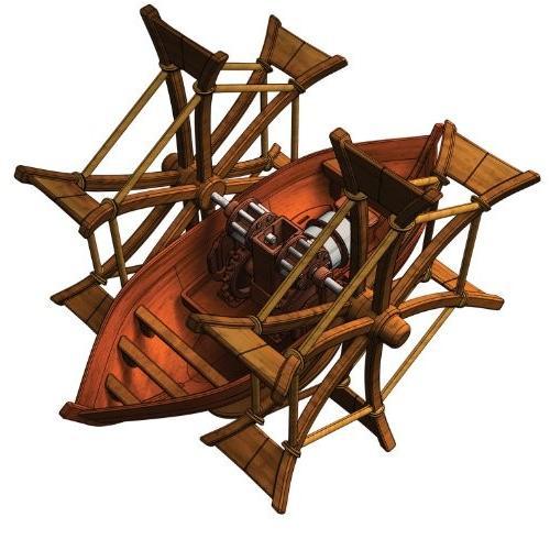 エレンコEdu-Toys Leonardo Da Vinci Paddle Boat