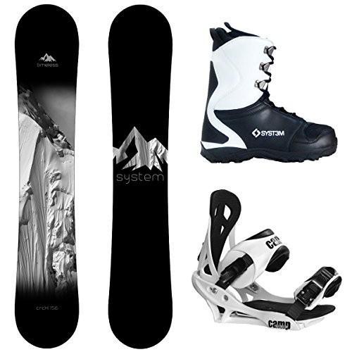 ウィンタースポーツSystem Package Timeless Snowboard 156 cm-Summit Binding 2019 APX SnowboarBoot Size 12