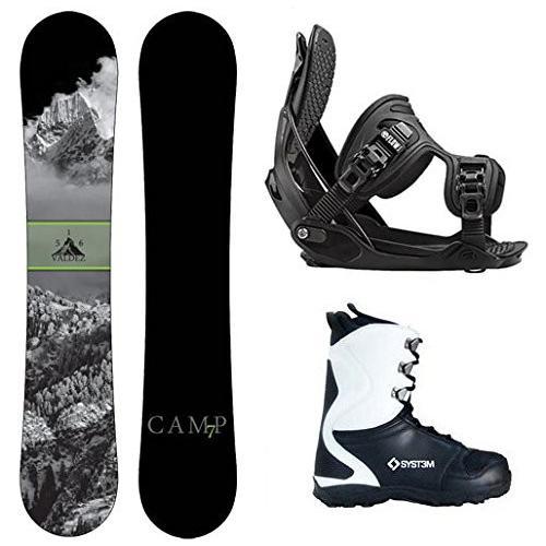 ウィンタースポーツCamp Seven Package Valdez CRC Snowboard-158 cm Wide-Flow Alpha MTN Large-Boot Size 9/Large Bindings