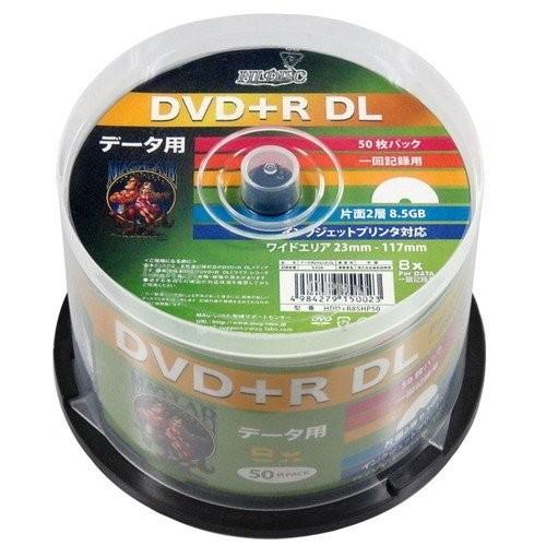 8倍速 データ用DVD+RDL50枚パック ホワイトワイドプリンタブル対応 HDD+R85HP50 HIDISC お取り寄せ shop-apollo