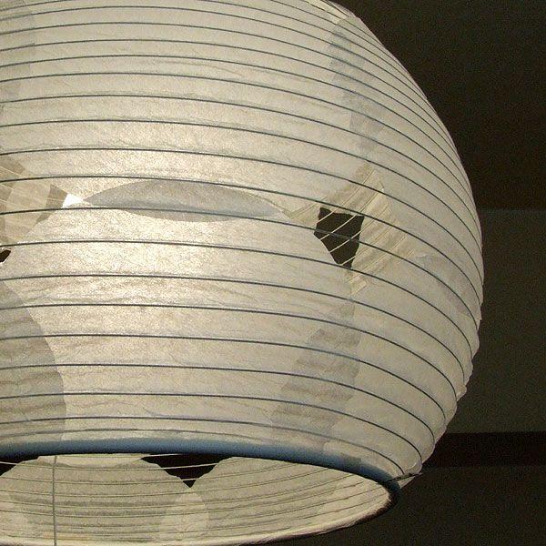 和紙 提灯 ペンダントライト アート 2灯 直径40cm 伝統工芸 和室 和風 和風 林工芸 TP-1026M-2