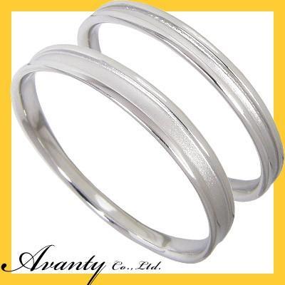 新しいブランド 結婚指輪 安い マリッジリング ペアリング ペアセット K10ホワイトゴールド K10WG 2本セット, 北尾化粧品部 4f8237f6