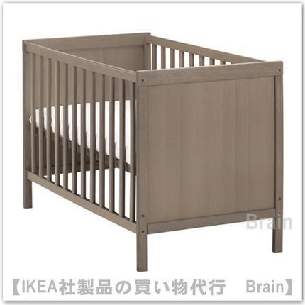 IKEA/イケア SUNDVIK ベビーベッド グレーブラウン