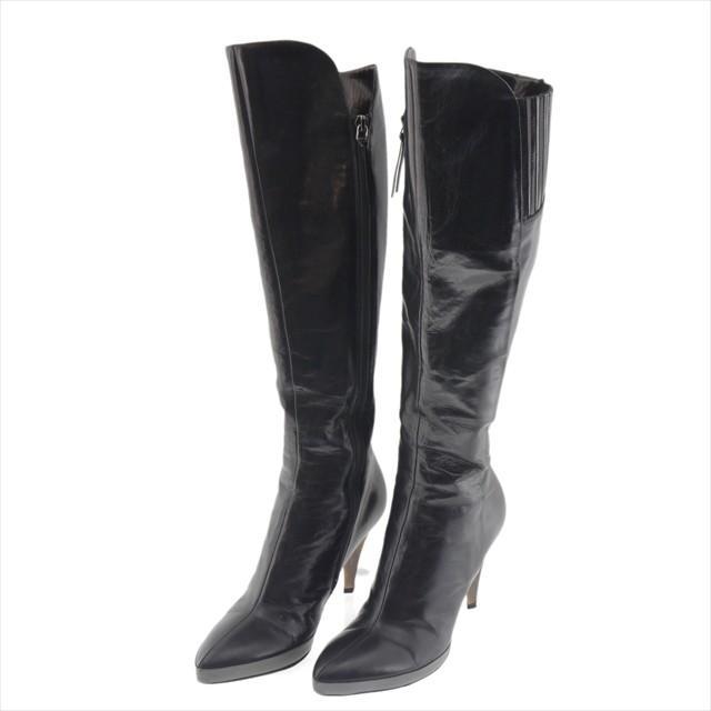 新しいコレクション ミュウミュウ レザー ロングブーツ ミュウミュウ ブラック レザー ブラック 約23cm, PowerHouse:d1574503 --- fresh-beauty.com.au