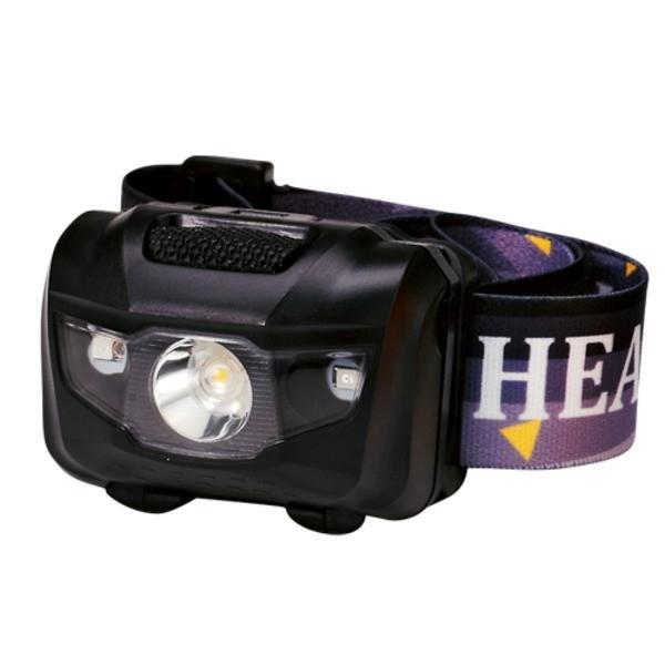 マルチ ヘッドライト/照明器具 〔ブラック 100個セット〕 ライト:4パターン切替可 〔防災 アウトドア 暗所作業〕