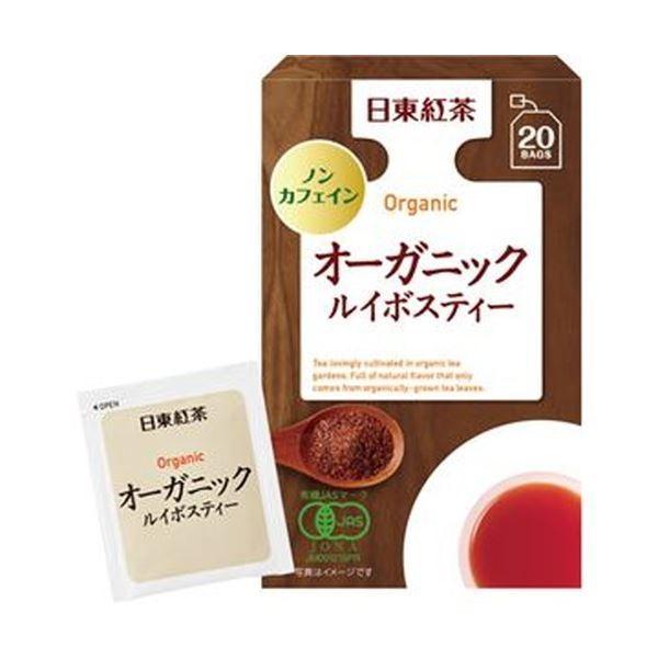 (まとめ)日東紅茶 オーガニックルイボスティー 1セット(60バッグ:20バッグ×3箱)〔×10セット〕