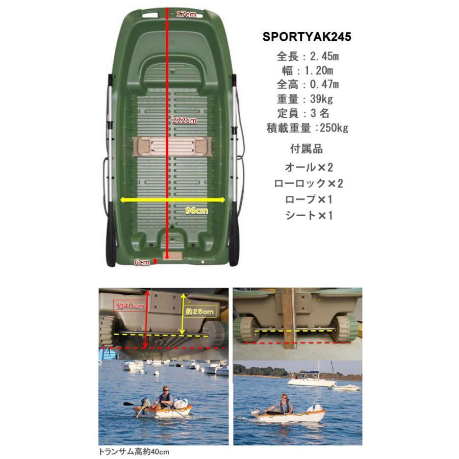 【送料無料対象外】ボート 3人乗りボート SPORTYAK245 【西濃運輸営業所止め配送】 レジャーボート ドーリー 2馬力 免許不要 BIC SPORT|shop-hood|12