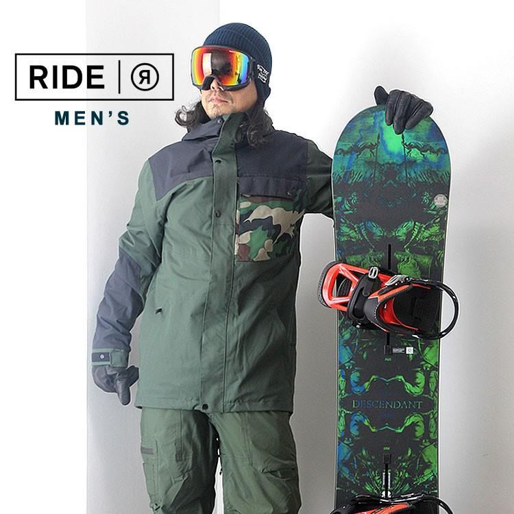【5%還元】ライド ウェア スノーボードウェア ジャケット パンツ スノボウェア スキー メンズ 上下セット RIDE M'S SET-157 0925