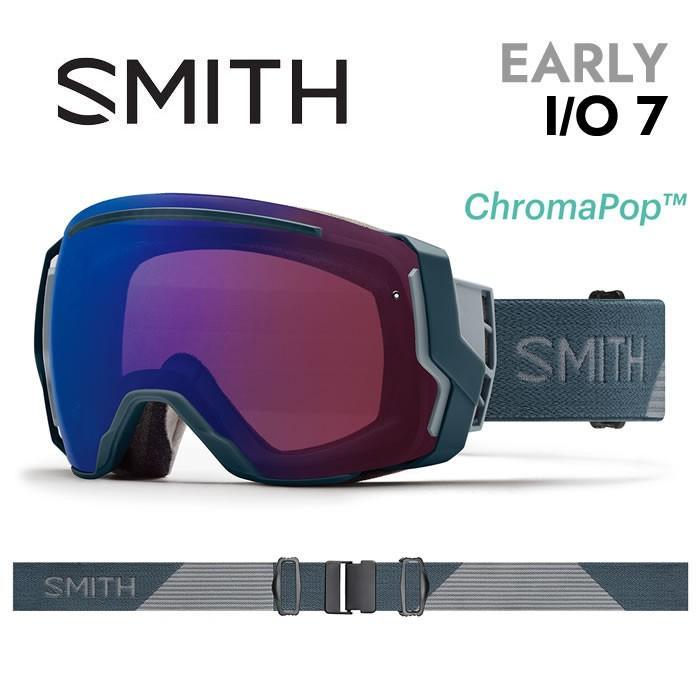 【5%還元】スミス ゴーグル スノーボード 18-19 SMITH [ EARLY I/O7 ] THUNDER SPLIT ジャパンフィット クロマポップ調光レンズ スノボ スキー goggle [0215]