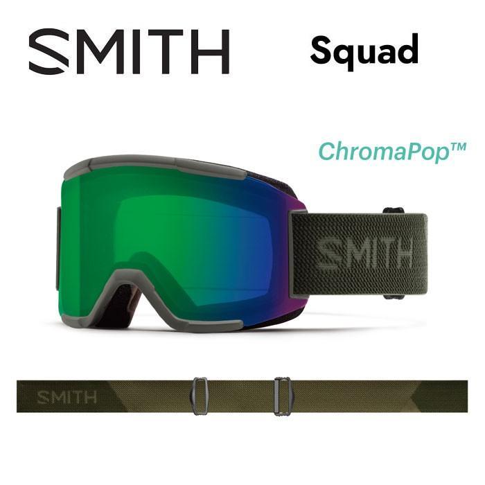 【5%還元】スミス ゴーグル SMITH SQUAD SAGE FLOOD EGM スノーボード スノボ スキー goggle カーキ 緑 [0920]