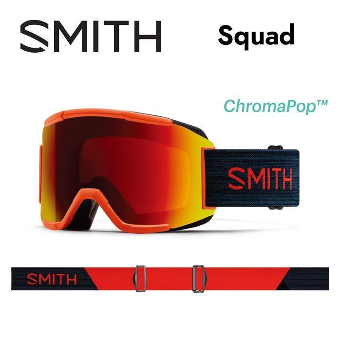 【5%還元】スミス ゴーグル SMITH SQUAD 赤 ROCK SRM スノーボード スノボ スキー goggle 黒 赤 [0920]
