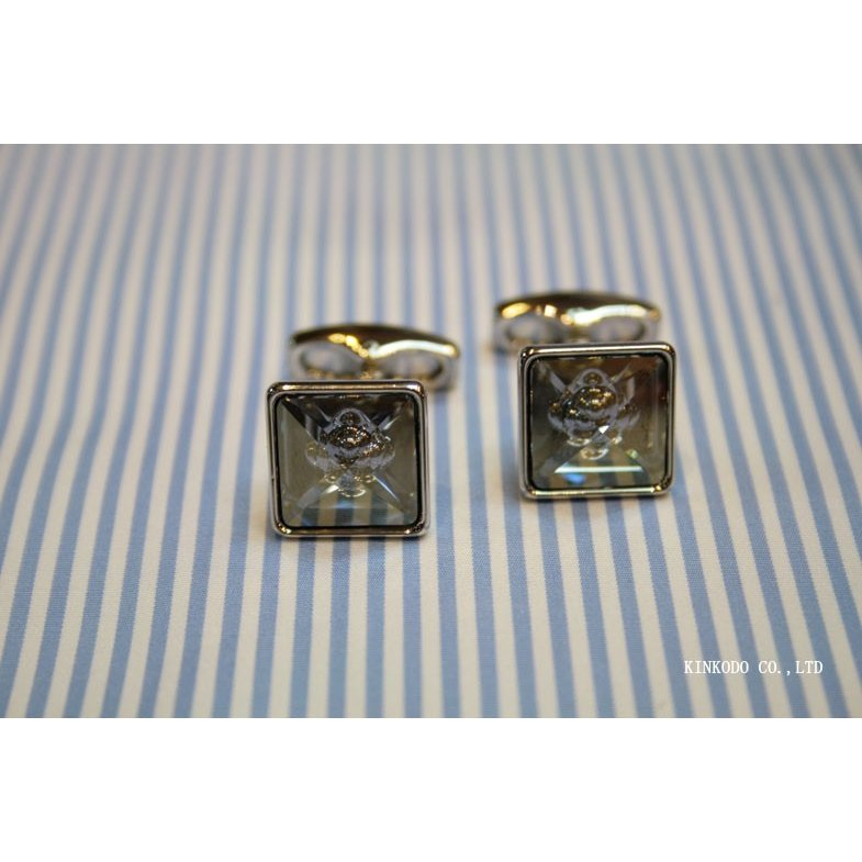 カフス・カフリンクス SIMON CARTER サイモン・カーターのスワロフスキー バブル(ブルー)|shop-kinkodo