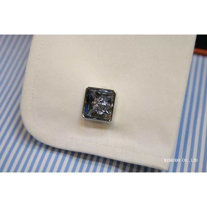 カフス・カフリンクス SIMON CARTER サイモン・カーターのスワロフスキー バブル(ブルー)|shop-kinkodo|06